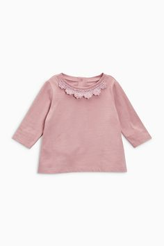 Buy Pink/Teal/Ecru T-Shirts Three Pack (0mths-2yrs) from the Next UK online shop