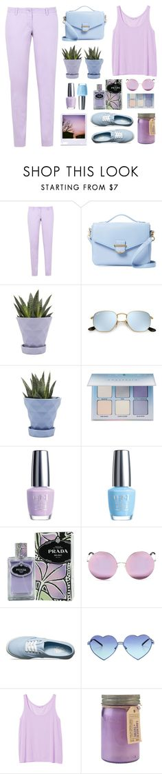 """""""Untitled #2229"""" by countrycousin ❤ liked on Polyvore featuring Armani Jeans, Cynthia Rowley, Chive, Anastasia Beverly Hills, OPI, Prada, Matthew Williamson, Vans, Wildfox and Monki"""