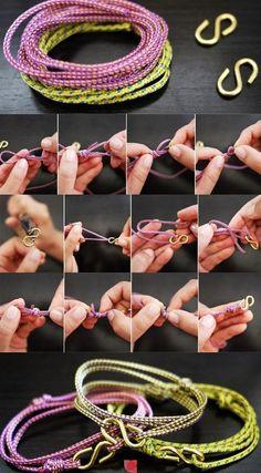 bellas y sencillas pulseras :D
