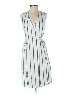 White striped Theory dress for $88.99 at thredUP