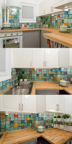Kuchnia babci, do której zaglądają trzy pokolenia. Na 3 m2 wygenerowane zostały 3 stanowiska pracy.
