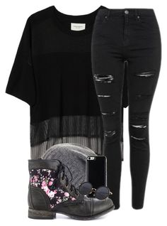 """""""Untitled #896"""" by xlostgirl18 ❤ liked on Polyvore featuring Public School, BCBGMAXAZRIA, Topshop, Steve Madden and Gooey"""