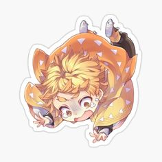 Kimetsu No Yaiba Anime Stickers Akatsuma Zenitsu Chibi Kawaii Stickers, Anime Stickers, Cute Stickers, Demon Slayer, Slayer Anime, Chibi Anime, Anime Art, Manga Kawaii, Anime Crafts