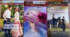 LOVE INSPIRED HISTORICAL SERIES-3 Book Set-By-Janet Dean