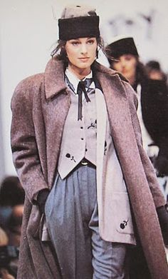 80s Menswear inspired fashion by Betty Jackson from 1988