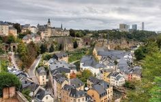 View from Hilton Double Tree over Luxembourg City. We stayed there during our trip to Luxembourg.