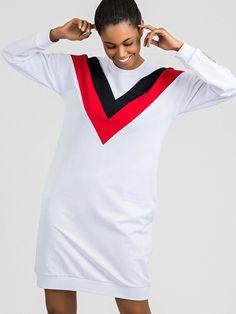 Biele športové šaty s dlhým rukávom Cold Shoulder Dress, Dresses, Model, Products, Fashion, Vestidos, Moda, Fashion Styles