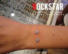 Surface anchor piercings @Rockstar Body Piercing