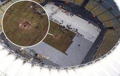 30cm? Flagra mostra buraco enorme no Maracanã; campo fica pronto dia 16