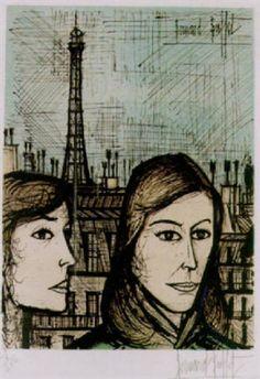 *  Les parisiennes 1958 Bernard Buffet
