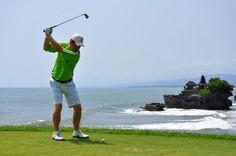 nirwana bali golf course with a view of the iconic Tanah Lot temple | Pan Pacific Nirwana Bali Resort | Tanah Lot - Bali, Indonesia