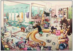 From left to right: Kida (Atlantis: The Lost Empire), Iridessa and Silvermist (Disney Fairies), Jane (Tarzan), Lady (Lady and the Tramp), Perdita D. - Part 2 Walt Disney, Disney Magic, Merida Disney, Disney Fan Art, Disney Love, Disney Stuff, Disney Girls, Disney And Dreamworks, Disney Pixar