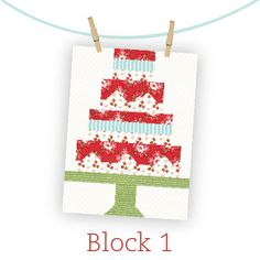 Snapshots Quilt-Along - Fat Quarter Shop's Jolly Jabber free block for St. Jude donation every 15th in 2015