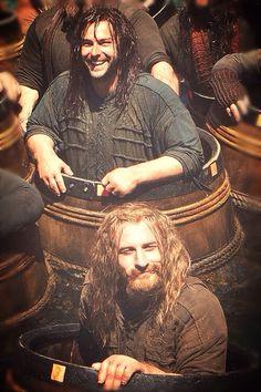Fili & Kili in barrels. BTS
