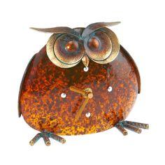 Owl Art Deco Clock #owls