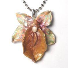 vulva jewelry vulva pendant ooak Orchid Pendant by TypsyGypsies, $17.00