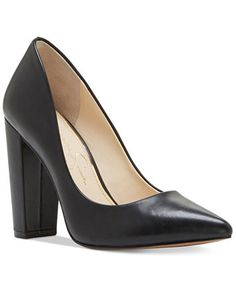 Jessica Simpson Tanysha Pointed Block-Heel Pumps | macys.com