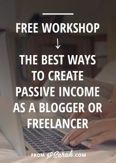 No matter your niche I know there is a passive income stream that will work for you. It will make running your business not only easier, but also more profitable. And some of these passive income streams can be up in running in under a month! That's 30 days to you making money while you sleep! Hell YES!