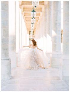 Bridal Paris editorial by destination film photographer Julie Paisley Parisian Wedding Dress, Paris Wedding, Wedding Film, Italy Wedding, Wedding Photos, Fine Art Wedding Photography, Wedding Photography Inspiration, Film Photography, Photography Ideas