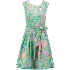 Derhy Summer dress green ❤ liked on Polyvore featuring dresses, green day dress, derhy dress, derhy, summery dresses and green dress