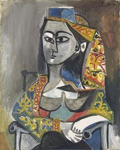 Pablo Picasso (1881-1973)Femme au costume turc dans un fauteuil 1955