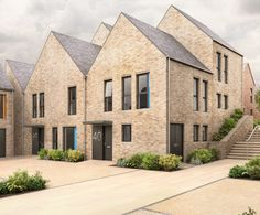 Bespoke contemporary housing development in Sacriston, County Durham, delivering a range of two to four bedroom family homes. Townhouse Exterior, Modern Townhouse, Modern Residential Architecture, Roof Architecture, Facade Design, Exterior Design, House Design, Sp City, Brick Construction