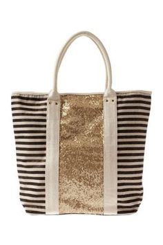 Stripes & sparkles? Yes, please! Perfect beach bag!