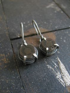 Fossil and silver earrings,  Mairi Collins Jewellery