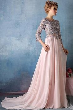 Prom Dresses Long Prom Dresses Pink A Line Sweep Train Jewel Neck Sleeve Appliques Cheap Prom Dress,Evening Dress Best Homecoming Dresses, Pink Prom Dresses, Cheap Prom Dresses, Prom Party Dresses, Simple Dresses, Occasion Dresses, Pretty Dresses, Wedding Dresses, Cheap Dress