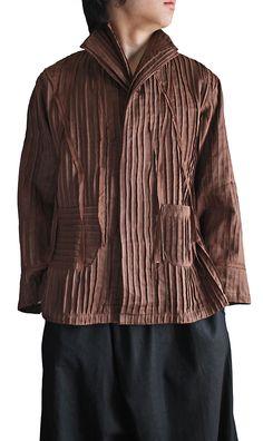 shirt with stitched ridge pattern