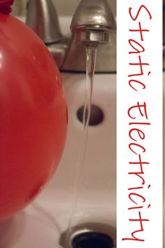 See the water bending? Life with Moore Babies: Exploring Static Electricity Science Activities For Kids, Cool Science Experiments, Stem Science, Easy Science, Preschool Science, Physical Science, Teaching Science, Learning Activities, Science Ideas