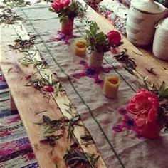 Bohemian Style Tablescapes - Bing images