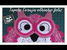 DIY - Tapete Coruja Soneca em Crochê (Diane Gonçalves) - YouTube