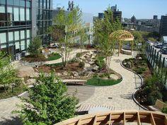 Diseño de pasarelas para las terrazas jardín