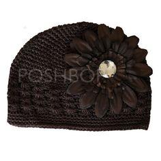 Baby Boutique Flower Hat - Newborn Baby Infant Girls Toddler (Brown) $6.50