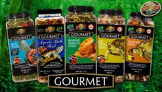 NOW AVAILABLE Zoo Med's NEW Gourmet Foods!