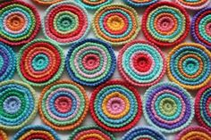 These are so gorgeous.  Free Ravelry pattern here http://www.ravelry.com/patterns/library/wheels-within-wheels-2