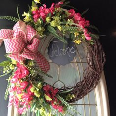 spring summer grapevine wreath with hot by angiespictureframes, $45.00