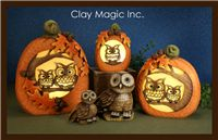 Clay Magic - New Releases Clay Owl, Small Pumpkins, Fall Decor, Holiday Decor, Clay Creations, Projects To Try, Magic, Ceramics, Christmas Ornaments