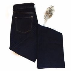 "J Brand Dark denim bootcut Excellent condition. Like new size 27. Not too low rise moderate flare at bottom. 8"" rise. 32.5"" inseam J Brand Jeans"