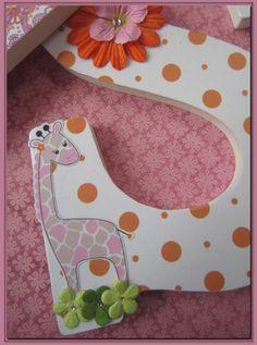 Jungle Jill Safari Brights Nursery wall Letters for by dmh1414, $12.75
