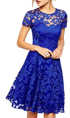 made2envy Fairy Lace Cap Sleeves Skater Dress