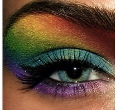 Pretty rainbow makeup