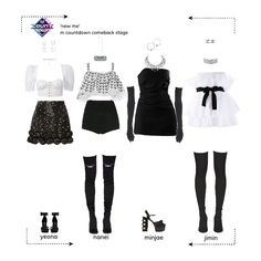 Kpop Fashion Outfits, Stage Outfits, Mode Outfits, Dance Outfits, Look Fashion, Korean Fashion, Womens Fashion, Cute Casual Outfits, Stylish Outfits
