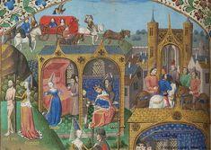 Cas des nobles hommes et femmes malheureux, MS G.35 fol. 79v - Images from Medieval and Renaissance Manuscripts - The Morgan Library & Museum