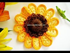 Hello everyone. I want to share with you this video tutorial of how to make a multicolor crochet butterfly. Crochet Sunflower, Crochet Butterfly, Crochet Flower Tutorial, Crochet Flower Patterns, Crochet Home, Irish Crochet, Borboleta Crochet, Alternative Bouquet, Knitted Flowers