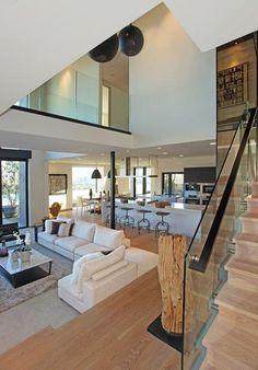 #moderndesign #architecture #SunsetStrip #livingroom #greatroom http://www.thebowerygroup.com/