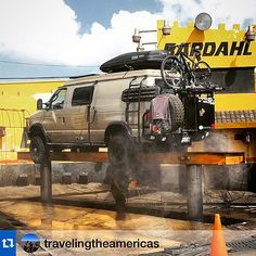 @travelingtheamericas.・・・Getting the chassis power washed and then sprayed down with diesel. @explorelements thanks for the advice when we met you in Baja. #LifeOfAdventure #LifeOnTheRoad #Sportsmobile #4wdvan #4x4Van #adventuremobile #HomeIsWhereYouParkIt @xplorebaja #overland #travel @sportsmobilewest