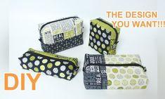 내가 디자인하는 파우치 만들기 | 화장품도 학용품도 OK : 네이버 블로그 Diy Pouch No Zipper, Louis Vuitton Damier, Your Design, Coin Purse, Pure Products, Wallet, Pattern, How To Make, Bags