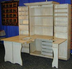 Sewing room storage ideas your sewing room storage for Craft cupboard with table
